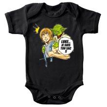Body bébé  parodique Yoda et Luke Skywalker : Luke... Je suis ton sac !! (Parodie )