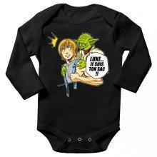 Body bébé manches longues  parodique Yoda et Luke Skywalker : Luke... Je suis ton sac !! (Parodie )