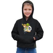 Sweat à capuche Enfant  parodique Yoda et Luke Skywalker : Luke... Je suis ton sac !! (Parodie )