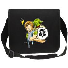 Sacs bandoulière Canvas  parodique Yoda et Luke Skywalker : Luke... Je suis ton sac !! (Parodie )