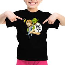 T-shirts  parodique Yoda et Luke Skywalker : Luke... Je suis ton sac !! (Parodie )