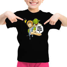 T-shirt Enfant Fille  parodique Yoda et Luke Skywalker : Luke... Je suis ton sac !! (Parodie )