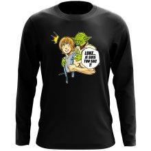 T-Shirt à manches longues  parodique Yoda et Luke Skywalker : Luke... Je suis ton sac !! (Parodie )
