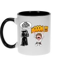 Mug  parodique Luke Skywalker et Dark Vador : Luke Life Episode I : Un père qui craint :) (Parodie )