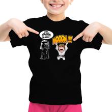 T-shirt Enfant Fille  parodique Luke Skywalker et Dark Vador : Luke Life Episode I : Un père qui craint :) (Parodie )