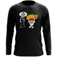 T-Shirt à manches longues  parodique Luke Skywalker et Dark Vador : Luke Life Episode I : Un père qui craint :) (Parodie )