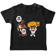 T-shirts  parodique Luke Skywalker, Chewbacca et Han Solo : Luke Life Episode III : Un beauf carrément beauf :) (Parodie )
