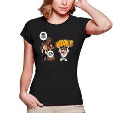 T-shirts Femmes  parodique Luke Skywalker, Chewbacca et Han Solo : Luke Life Episode III : Un beauf carrément beauf :) (Parodie )