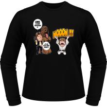 T-Shirts à manches longues  parodique Luke Skywalker, Chewbacca et Han Solo : Luke Life Episode III : Un beauf carrément beauf :) (Parodie )