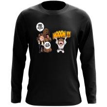 T-Shirt à manches longues  parodique Luke Skywalker, Chewbacca et Han Solo : Luke Life Episode III : Un beauf carrément beauf :) (Parodie )