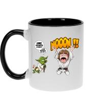 Mug  parodique Yoda et Luke Skywalker : Luke Life Episode IV : le Maître... (Parodie )