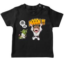T-shirt bébé  parodique Yoda et Luke Skywalker : Luke Life Episode IV : le Maître... (Parodie )