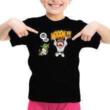 T-shirt Enfant Fille  parodique Yoda et Luke Skywalker : Luke Life Episode IV : le Maître... (Parodie )