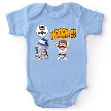 Body bébé  parodique Luke Skywalker et R2-D2 : Luke Life Episode V : un robot...ménager !! (Parodie )