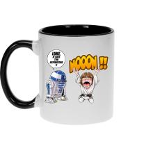 Mug  parodique Luke Skywalker et R2-D2 : Luke Life Episode V : un robot...ménager !! (Parodie )