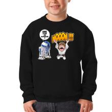 Pull Enfant  parodique Luke Skywalker et R2-D2 : Luke Life Episode V : un robot...ménager !! (Parodie )