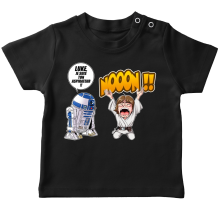 T-shirt bébé  parodique Luke Skywalker et R2-D2 : Luke Life Episode V : un robot...ménager !! (Parodie )