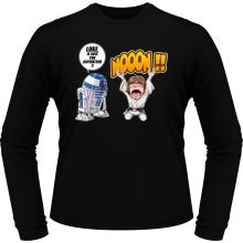 T-Shirts à manches longues  parodique Luke Skywalker et R2-D2 : Luke Life Episode V : un robot...ménager !! (Parodie )