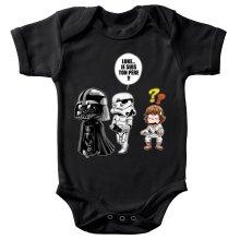 Body bébé  parodique Dark Vador, Luke et un Storm Trooper : Luke...Je suis ton père !! (Parodie )