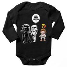 Body bébé manches longues  parodique Dark Vador, Luke et un Storm Trooper : Luke...Je suis ton père !! (Parodie )