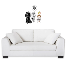 Décorations murales  parodique Dark Vador, Luke et un Storm Trooper : Luke...Je suis ton père !! (Parodie )