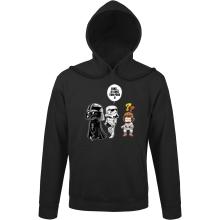 Sweat à capuche  parodique Dark Vador, Luke et un Storm Trooper : Luke...Je suis ton père !! (Parodie )