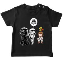 T-shirts  parodique Dark Vador, Luke et un Storm Trooper : Luke...Je suis ton père !! (Parodie )