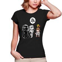 T-shirts Femmes  parodique Dark Vador, Luke et un Storm Trooper : Luke...Je suis ton père !! (Parodie )