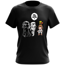 T-shirt  parodique Dark Vador, Luke et un Storm Trooper : Luke...Je suis ton père !! (Parodie )