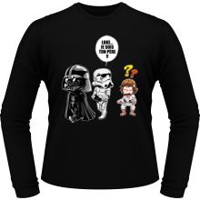 T-Shirts à manches longues  parodique Dark Vador, Luke et un Storm Trooper : Luke...Je suis ton père !! (Parodie )