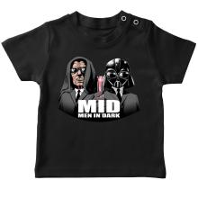 T-shirt bébé  parodique Dark Vador et Dark Sidious se prenant pour des Men In Black : Men In Dark !! (Parodie )