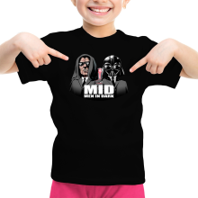 T-shirt Enfant Fille  parodique Dark Vador et Dark Sidious se prenant pour des Men In Black : Men In Dark !! (Parodie )