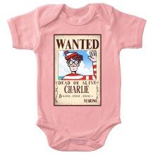 Body bébé (Filles)  parodique Charlie à la sauce One Piece Wanted : Mystérieux Wanted (Parodie )
