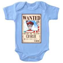 Body bébé  parodique Charlie à la sauce One Piece Wanted : Mystérieux Wanted (Parodie )