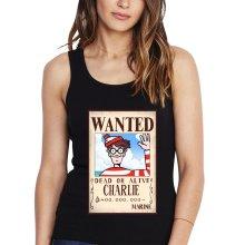 Débardeurs  parodique Charlie à la sauce One Piece Wanted : Mystérieux Wanted (Parodie )
