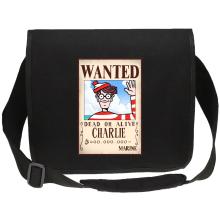 Sacs bandoulière Canvas  parodique Charlie à la sauce One Piece Wanted : Mystérieux Wanted (Parodie )