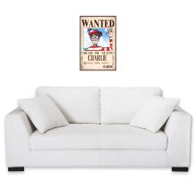 Sticker Mural  parodique Charlie à la sauce One Piece Wanted : Mystérieux Wanted (Parodie )