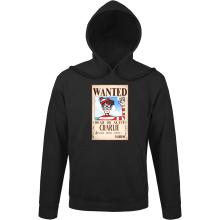 Sweat à capuche  parodique Charlie à la sauce One Piece Wanted : Mystérieux Wanted (Parodie )
