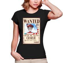 T-shirts Femmes  parodique Charlie à la sauce One Piece Wanted : Mystérieux Wanted (Parodie )