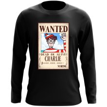 T-Shirt à manches longues  parodique Charlie à la sauce One Piece Wanted : Mystérieux Wanted (Parodie )