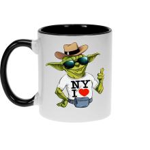 Mugs  parodique Yoda : New York I Love ! (Parodie )