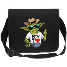 Sacs bandoulière Canvas  parodique Yoda : New York I Love ! (Parodie )