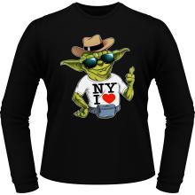 T-Shirts à manches longues  parodique Yoda : New York I Love ! (Parodie )