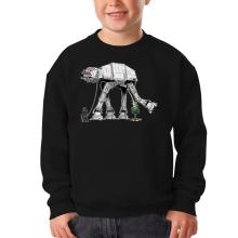 Sweat-shirts  parodique Empereur Palpatine aka Dark Sidious et son robot chien AT-AT : Promenade impériale... (Parodie )