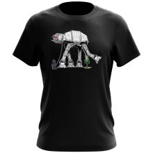 T-shirt  parodique Empereur Palpatine aka Dark Sidious et son robot chien AT-AT : Promenade impériale... (Parodie )
