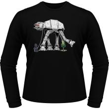 T-Shirts à manches longues  parodique Empereur Palpatine aka Dark Sidious et son robot chien AT-AT : Promenade impériale... (Parodie )