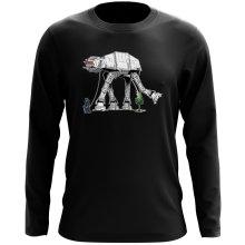T-Shirt à manches longues  parodique Empereur Palpatine aka Dark Sidious et son robot chien AT-AT : Promenade impériale... (Parodie )