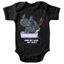 Body bébé  parodique Krokmou le Dragon : Quand faut y aller... Faut y aller !! (Parodie )