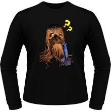 T-Shirts à manches longues  parodique Chewbacca : Qu