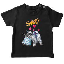 T-shirt bébé  parodique R2-D2 in love d